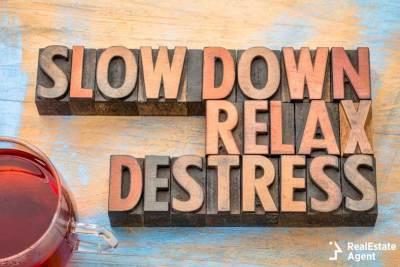 slow down relax de-stress