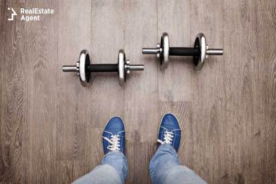 dumbbells on the floor