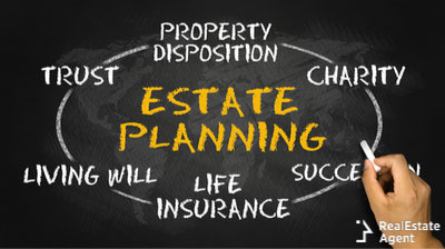 real estate planning concept on board