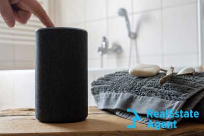 noise-cancelling speaker in the bathroom