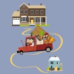 downsizin home vector image