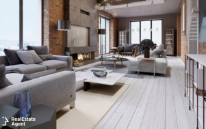 great design of apartments in a loft style