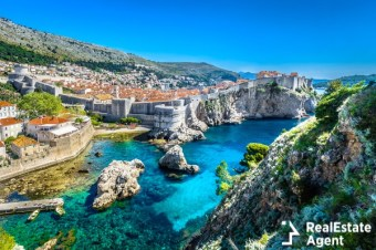 aerial panoramic view of dubrovnik croatia