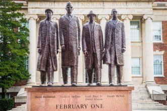 historic greensboro four moment