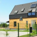 modern house building with energy saver