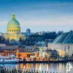 annapolis maryland usa town skyline
