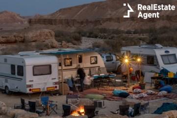 desert caravan camping