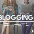 blogging post connect social media concept