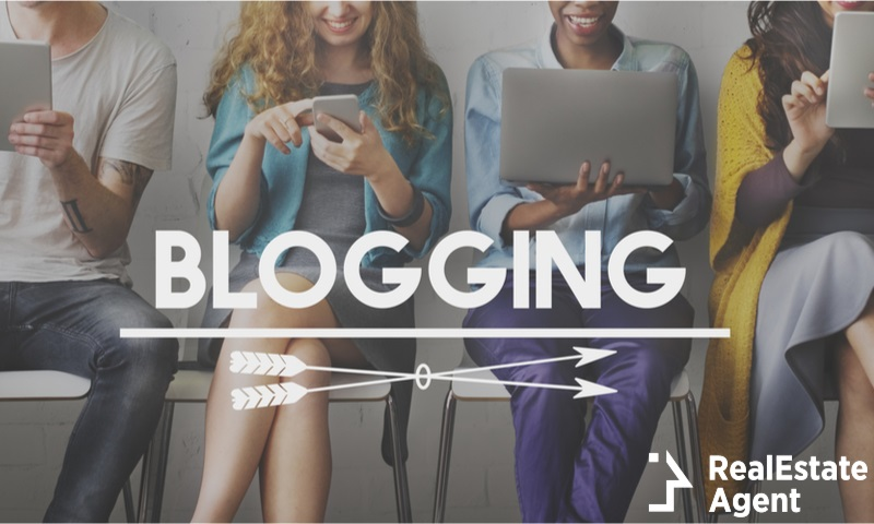 blogging post connect social media concept