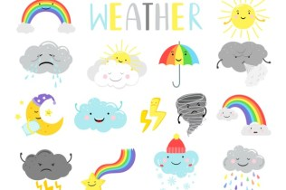 cute weather illustration