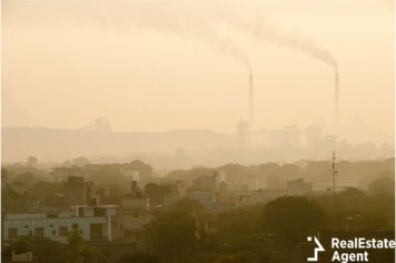 Indian city covered by air pollutants