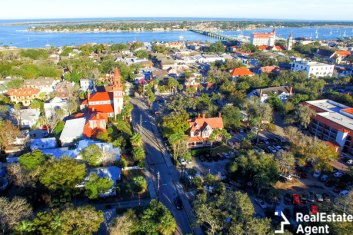 Over head view of Saint Augustine neighborhood