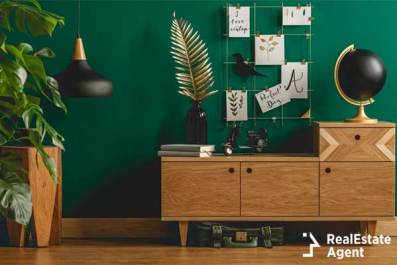 dark green modern wooden