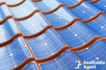 solar panels integrated into the roof
