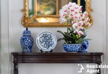 blue paint porcelain collection