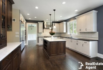 kitchen in remodeled home center