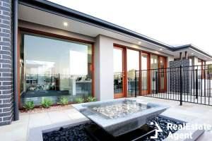 backyard of luxury house