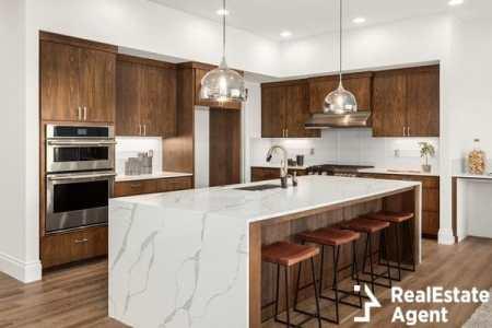 modern kitchen in a luxury house