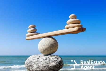 symbolic scale of stones