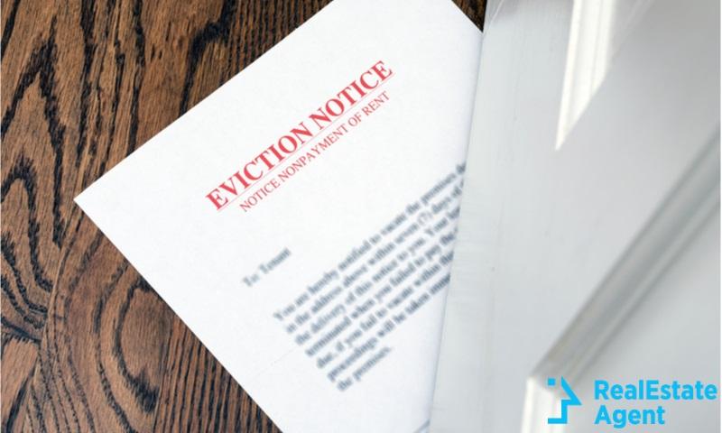eviction-notice on hardwood floor