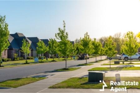 Suburban neighborhood in Bentonville AR