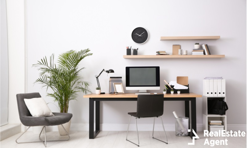 modern computer on table in office interior