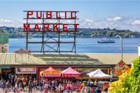 A farmers market in Seattle