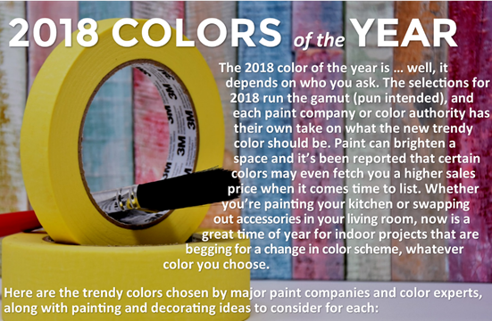 colors 2018 Colors of The Year: It's not too late to paint!