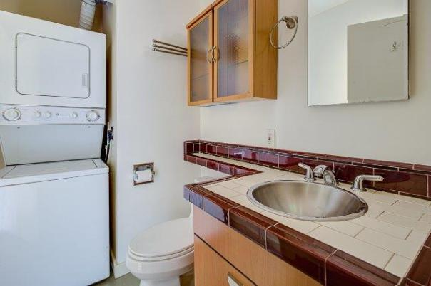 10-BATHROOM-LAUNDRY LAURIE WAY ANNOUNCES | MID CENTURY MODERN CONDO FOR SALE | 330 W OLYMPIC PL #404