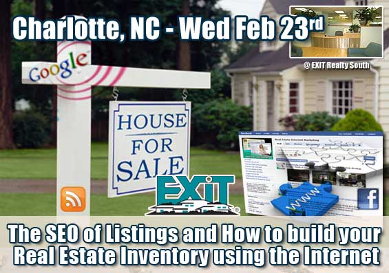 The SEO of Listings and How to build your Real Estate Inventory using the Internet - a Charlotte NC Training