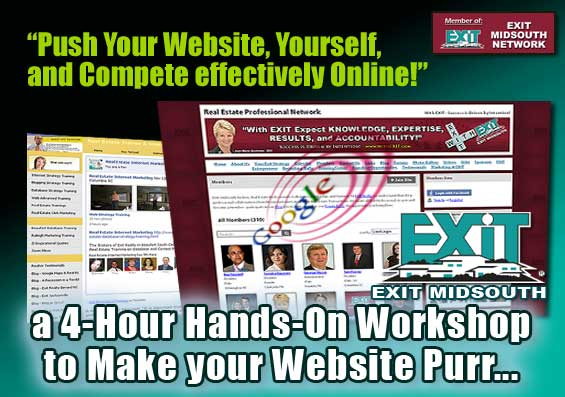 Push Your Website, Yourself, and Compete Effectively Online - an EXIT MidSouth Workshop