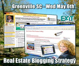 Greenville SC Real Estate Web Strategy Training Wednesday May 6th, 2009