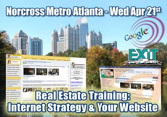 Norcross Metro Atlanta GA Real Estate Web Strategy Training