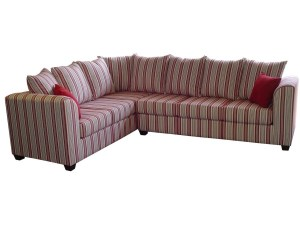 striped sectional