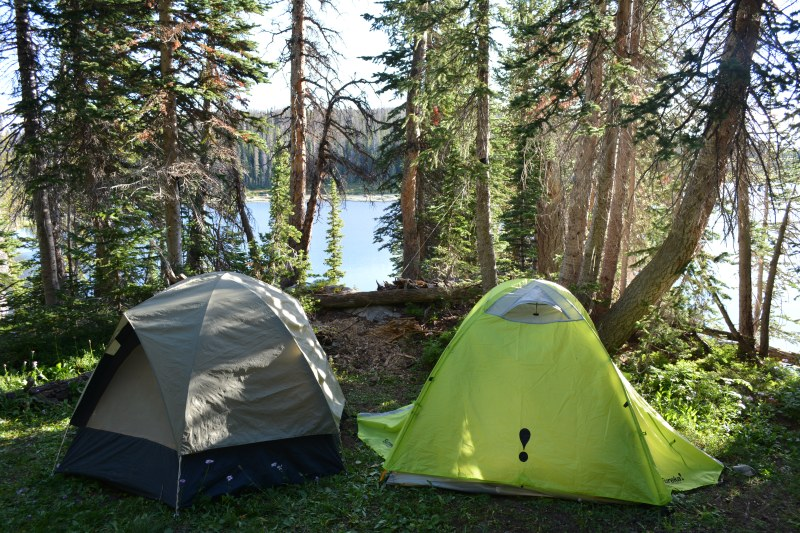 The campsite at Camp Lake
