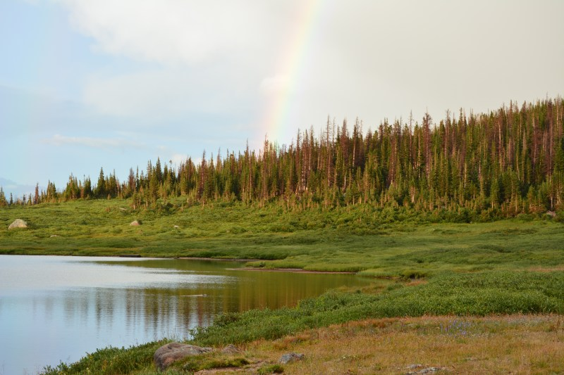A rainbow was waiting for us when we got back to Camp Lake