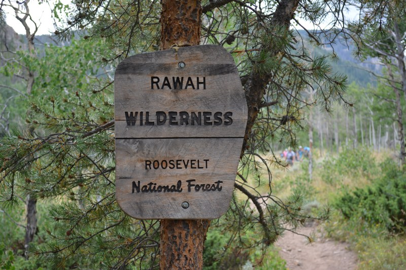 Entering the Wilderness Area