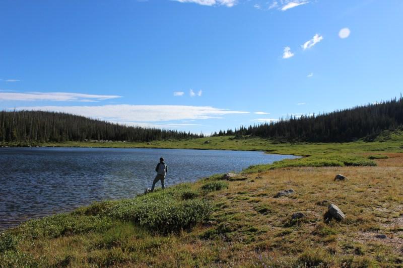 Fishing Camp Lake near the campsite