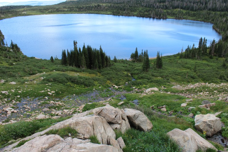 Snow melt making it's way down to Upper Camp Lake