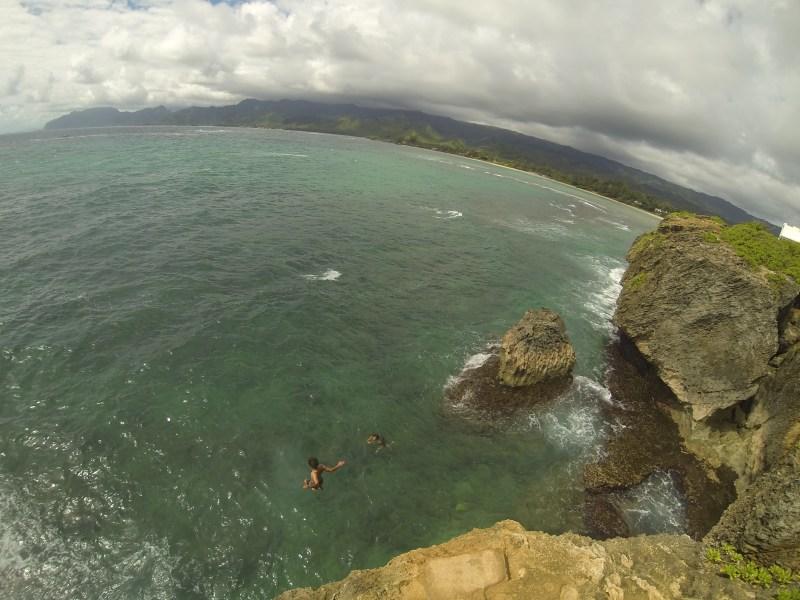 Laie Point Cliff Jump, Wayside, Oahu, Hawaii