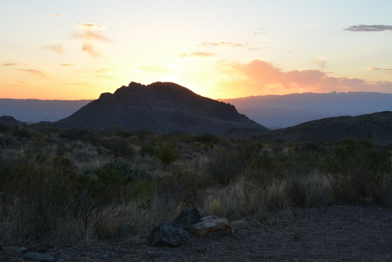 Big Bend Backcountry Camping Sunrise