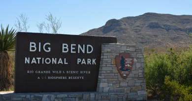 Big Bend National Park welcome sign