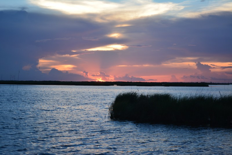 Pointe Aux Chenes, Kayak Fishing, Sunset, Louisiana