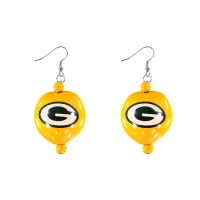 Green Bay Packers Kukui Nut Earrings  Real Fans Go Nuts