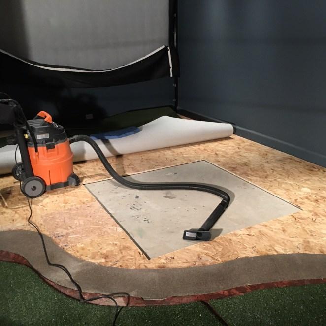 5' x 5' sub-flooring cut-out
