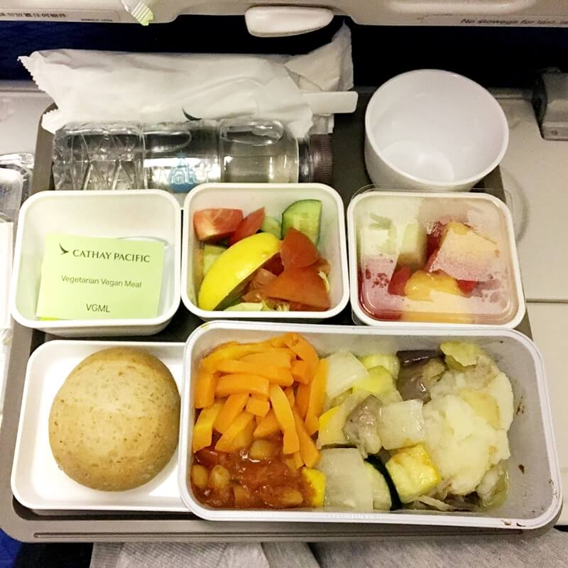 cathay airline vegan meal