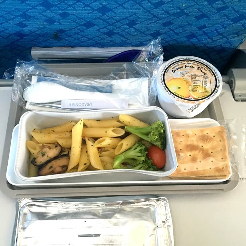 dragon airline vegan meal