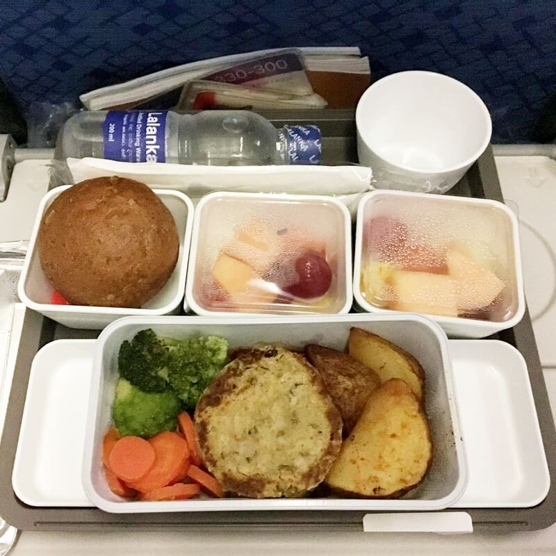 sri lanka airline vegan meal
