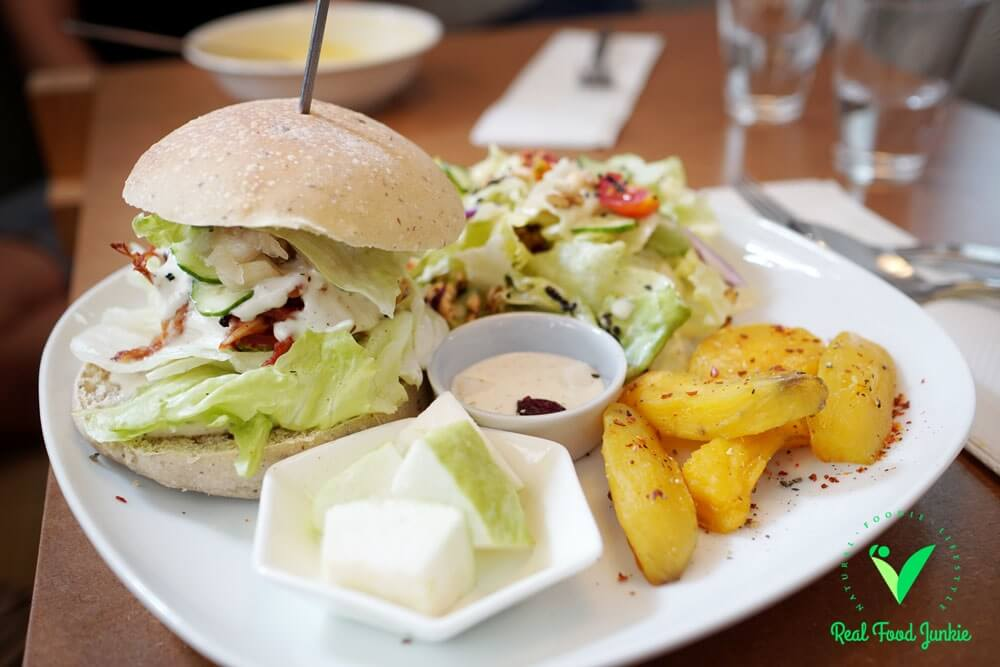 Mottainai Plant-Based Whole Food Cafe - burger