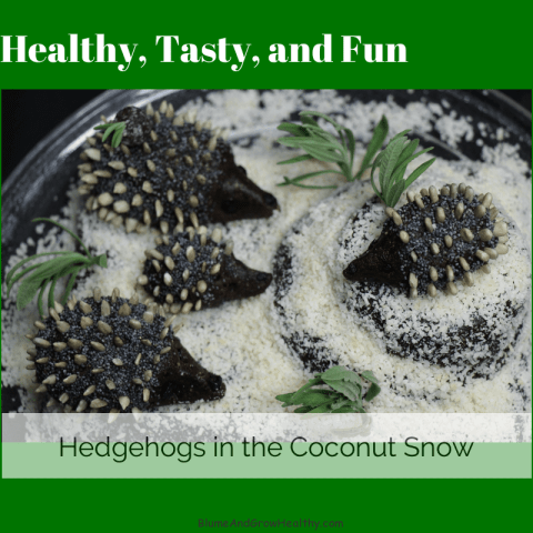 Healthy Snack Hedgehogs in Snow